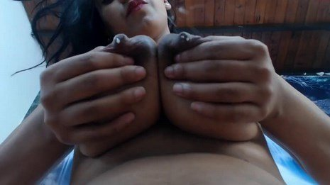 Milk Squirting Latina MILF With Engorged Boobs