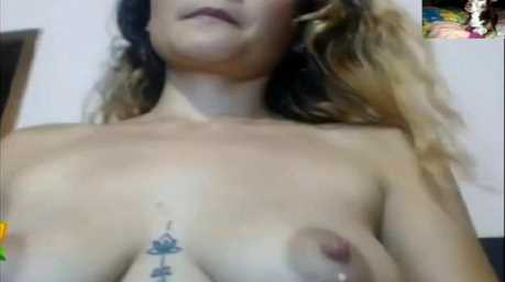 Leaking Breast Milk Tattooed MILF Camgirl