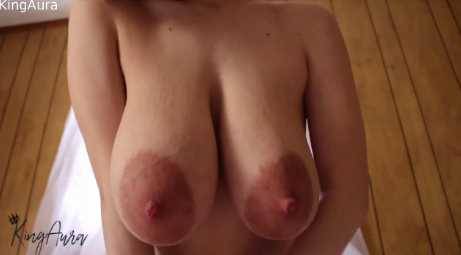 Teen Lactating With Engorged Tits Pussy Play