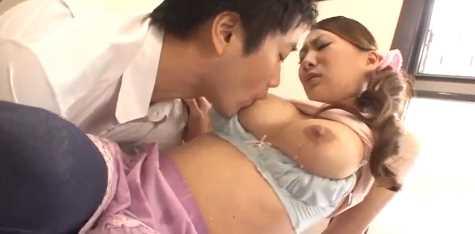 Husband Breastfeeding On Lactating Japanese MILF
