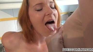 Gorgeous Lactating Lesbian Adult Breastfeeding