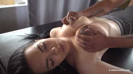 Lactating MILF Being Milked Dry By A Guy