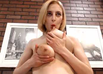 Lactation Porn With Blonde MILF Breastfeeding Sexually