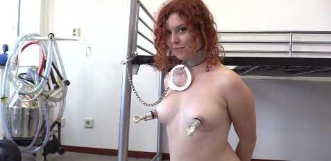 Redhead MILF Lactating Hucow Milking Machine