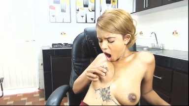 Latina MILF Porn Squirting & Tasting Breast Milk