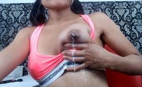 Asian Teen Milking Her Perky Tits On Webcam