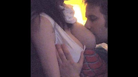 Husband Breastfeeding On Amazing MILF Tits