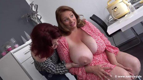 Big Lactating Breasts Lesbian MILFs Nursing