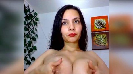 Gorgeous MILF Playing With Her Lactating Boobs