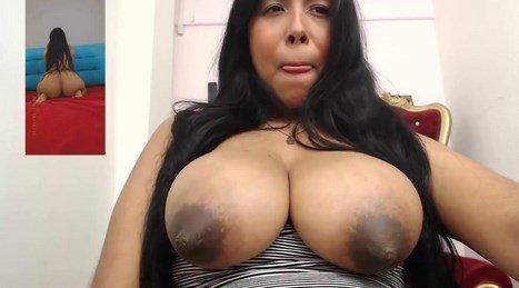 Engorged Boobs Latina MILF Cam Lactation