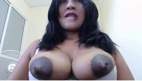Large Dark Nipples Latina MILF Lactation