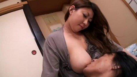 Big Milky Jugs Japanese MILF Breastfeeding