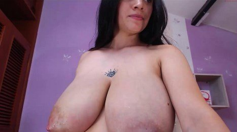 Lactating Webcam Engorged Milky Boobs Latina