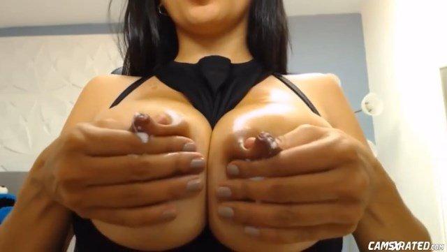 Raunchy Engorged Milky Tits MILF On Cam