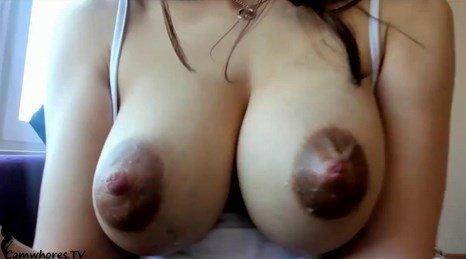 Gorgeous Euro Teen Camgirl Milking Her Nipples